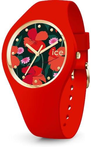 Cette montre ICE-WATCH se compose d'un boîtier Rond de 35.5 mm et d'un bracelet en Silicone Rouge