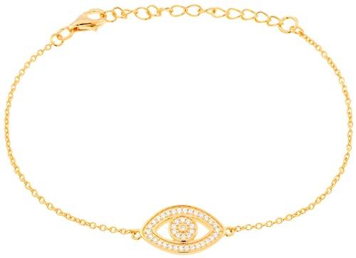 Bracelet CLEOR en Argent 925/1000 Jaune et Oxyde