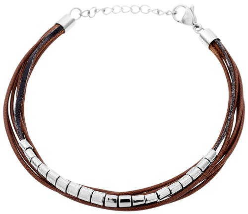 Ce Bracelet ZEPHYR est en Acier Blanc