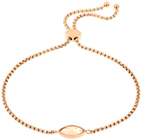 Bracelet MISSISSIPI en Acier Rose et Cristal Beige
