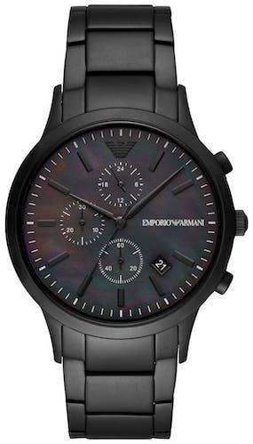 Cette montre EMPORIO ARMANI se compose d'un boîtier Rond de 43 mm et d'un bracelet en Acier inoxydable Noi