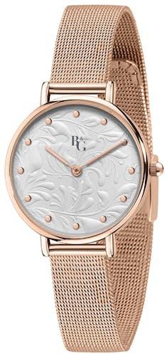 Cette Montre pour Femme B&G PREPPY se compose d'un Boîtier Rectangle 35 mm x 22 mm et d'un Bracelet en Métal Rose