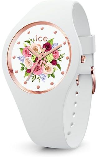 Cette montre ICE-WATCH se compose d'un boîtier Rond de 35.5 mm et d'un bracelet en Silicone Blanc  -