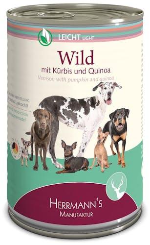 Herrmann's - Nassfutter - Selection Leicht Wild mit Kürbis und Quinoa (glutenfrei)