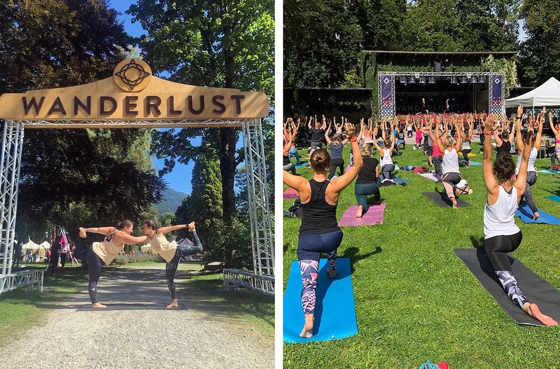 Yoga Sessions beim Wanderlust