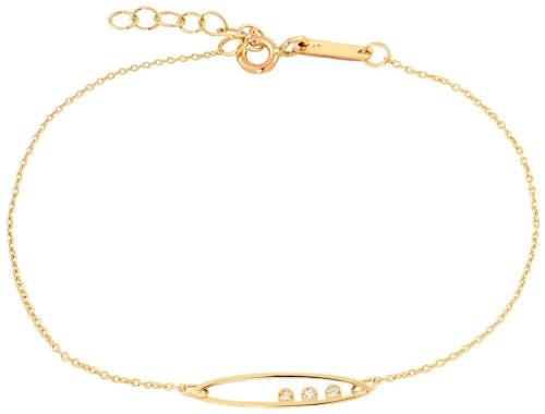 Ce Bracelet CLEOR est en Or 375/1000 Jaune et Oxyde Blanc