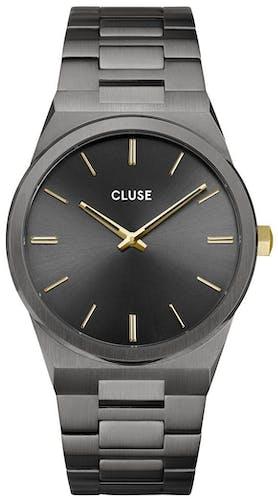 Cette montre CLUSE se compose d'un boîtier Rond de 40 mm et d'un bracelet en Acier Gris