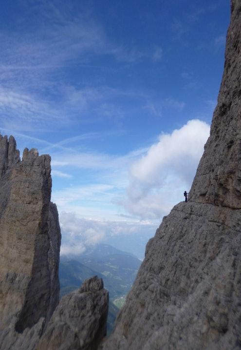 Dolomiten-Klettern-Delagokante