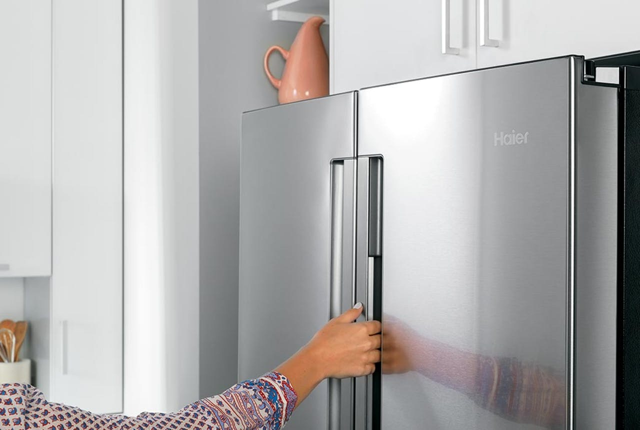 Haier refrigerator integrated handles