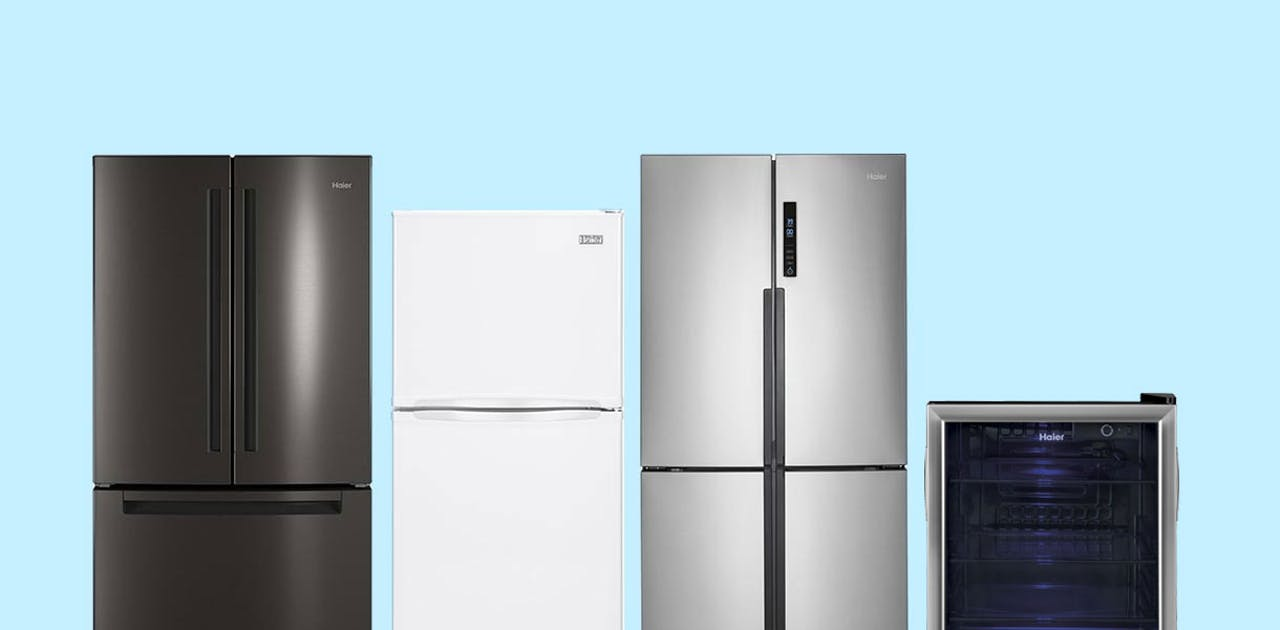 Refrigerator buying guide - refrigerator examples shown.
