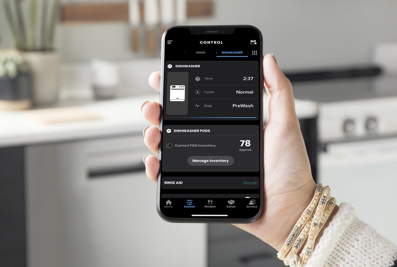 Haier dishwasher WiFi app.