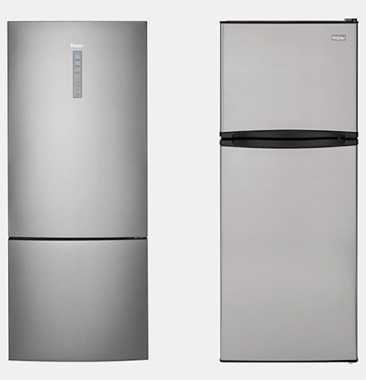 Top or bottom freezer refrigerator options.
