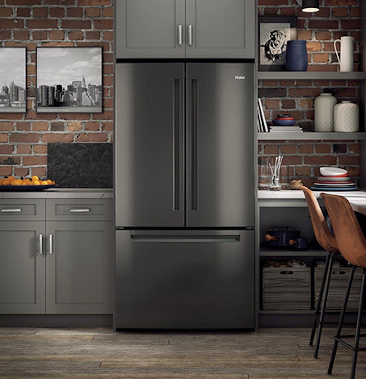 Black stainless refrigerator