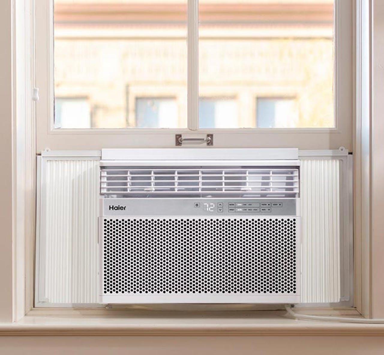 Haier window air conditioner installed