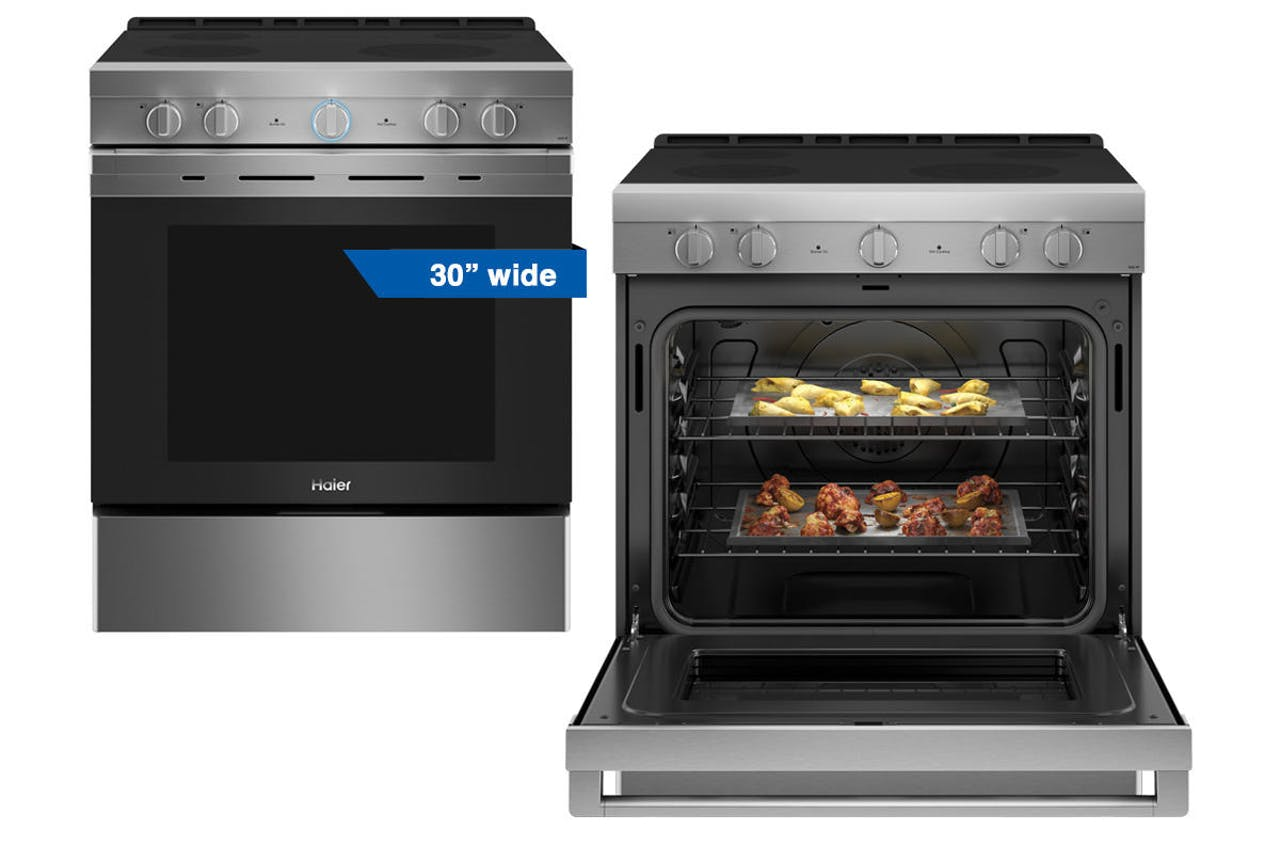 Haier 24 inch stainless steel electric range
