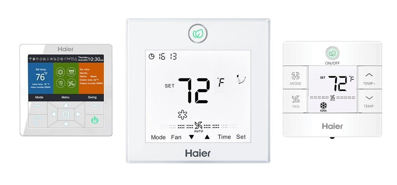 Photo of Haier Ductless wired wall mounted controllers
