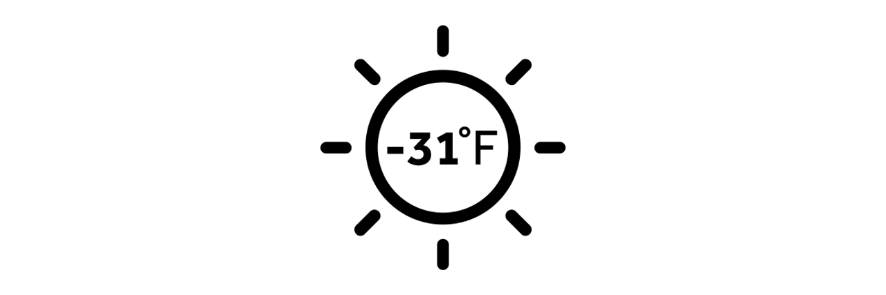 -31 Degrees F Heating icon