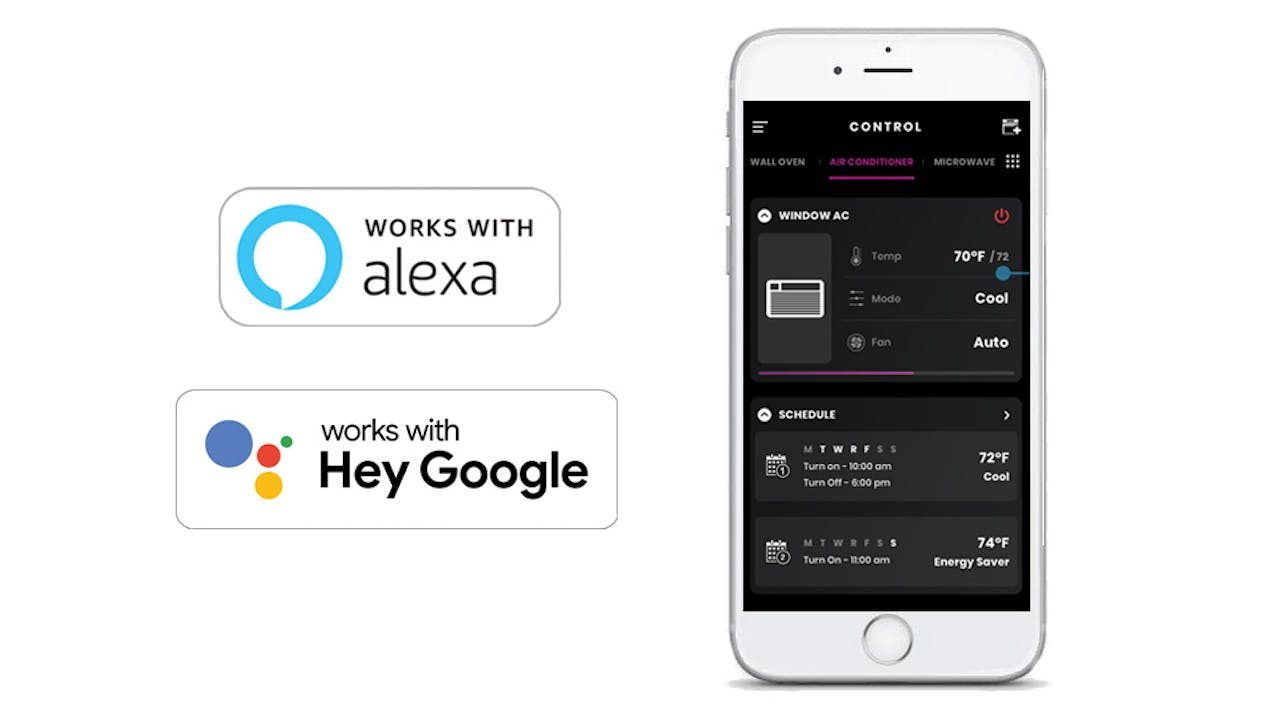 Haier Ductless AC WiFi App Screens - works with Alexa, works with the Hey Google