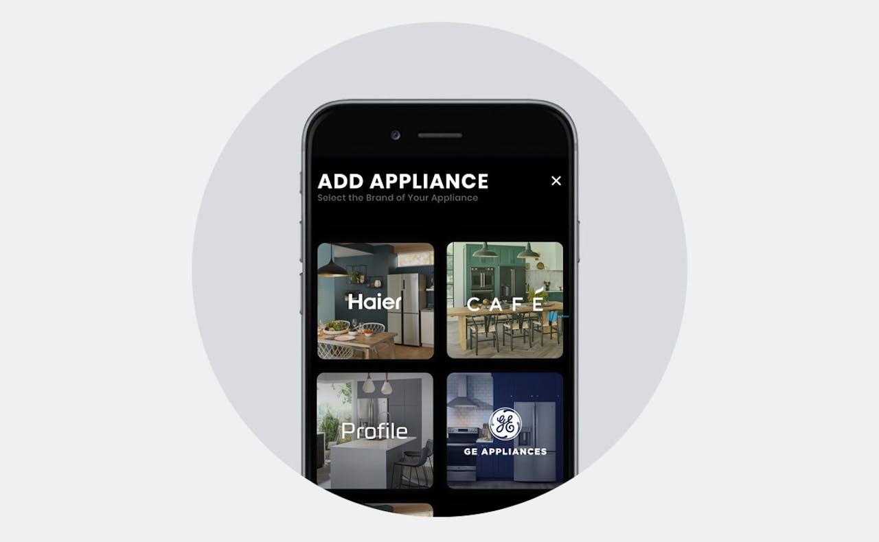 Photo of Haier Home App on phone