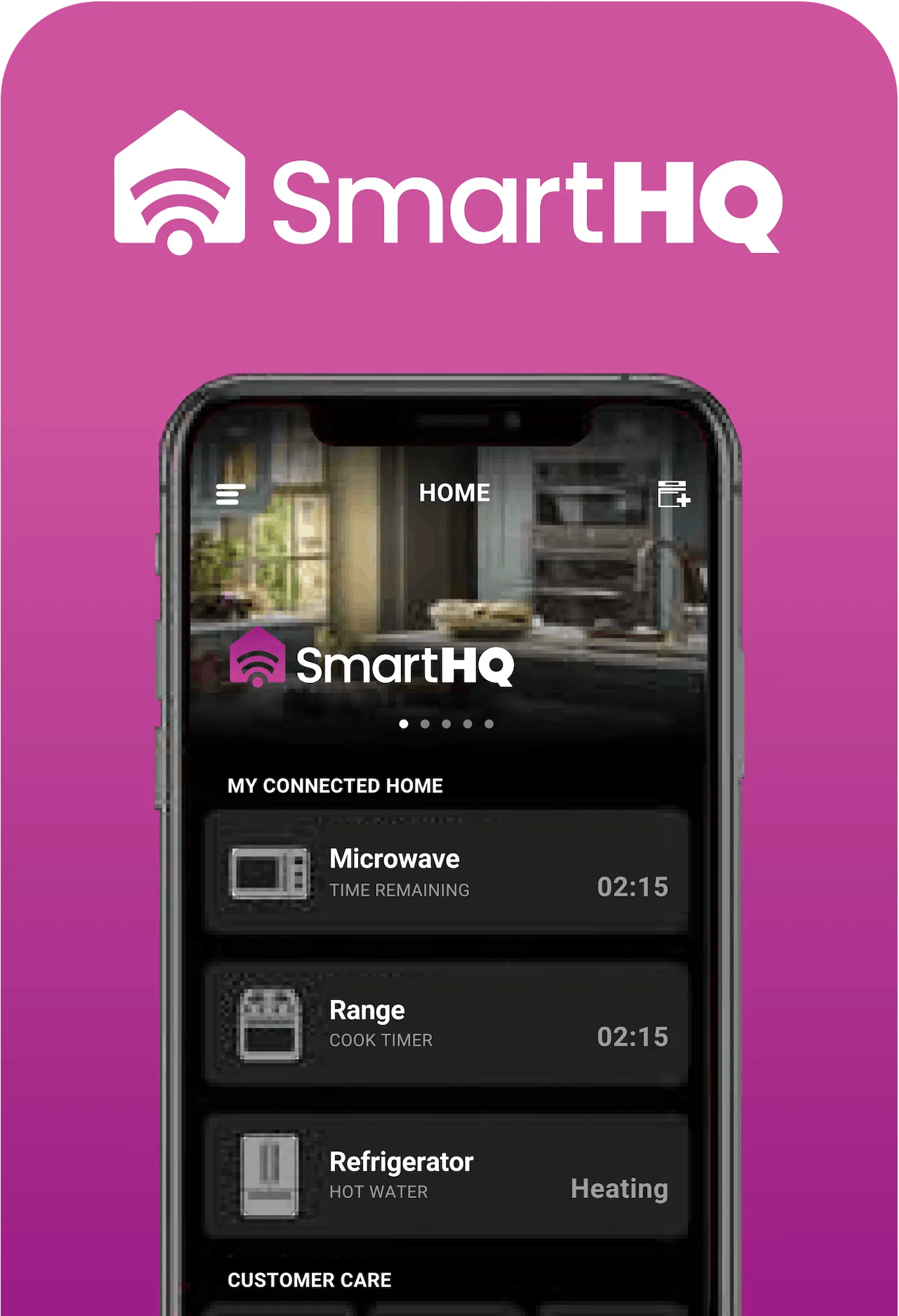 SmartHQ Home screen