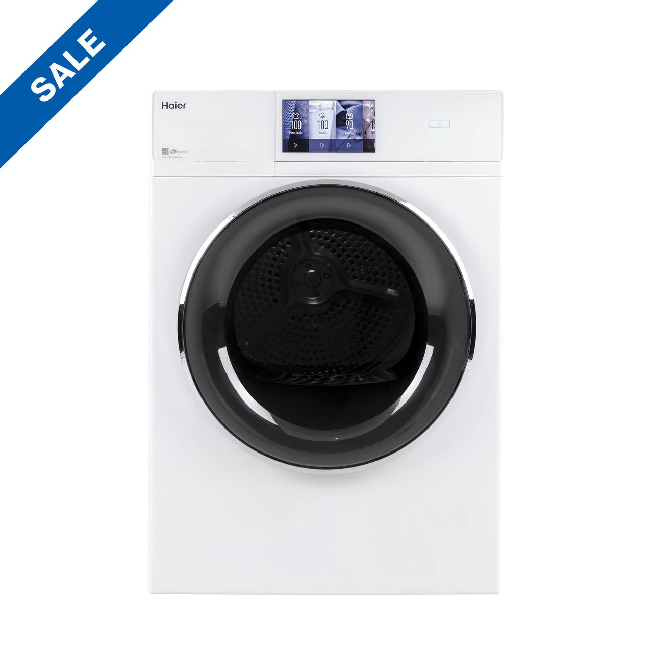 "4.3 cu.ft. Capacity Smart 24"" Frontload Electric Dryer with Stainless Steel Basket"