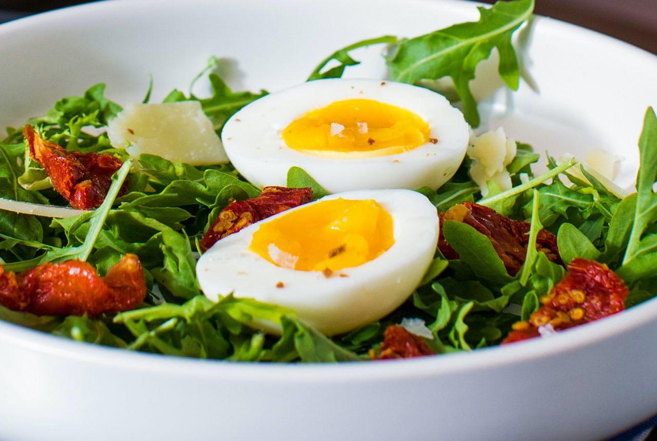 Arugula Salad with Jammy Eggs