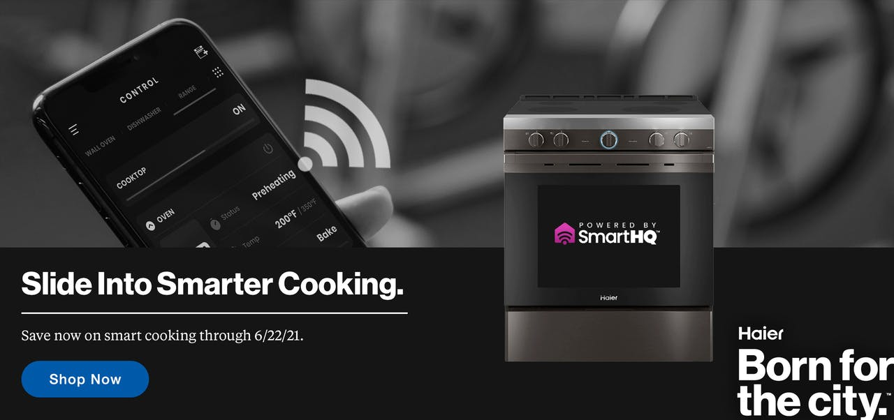 Slide into Smarter Cooking! Connect to your cooking products via our SmartHQ app.
