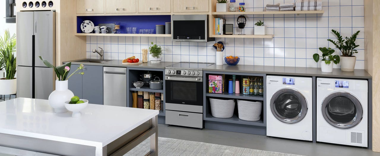 Haier kitchen featuring small space appliances