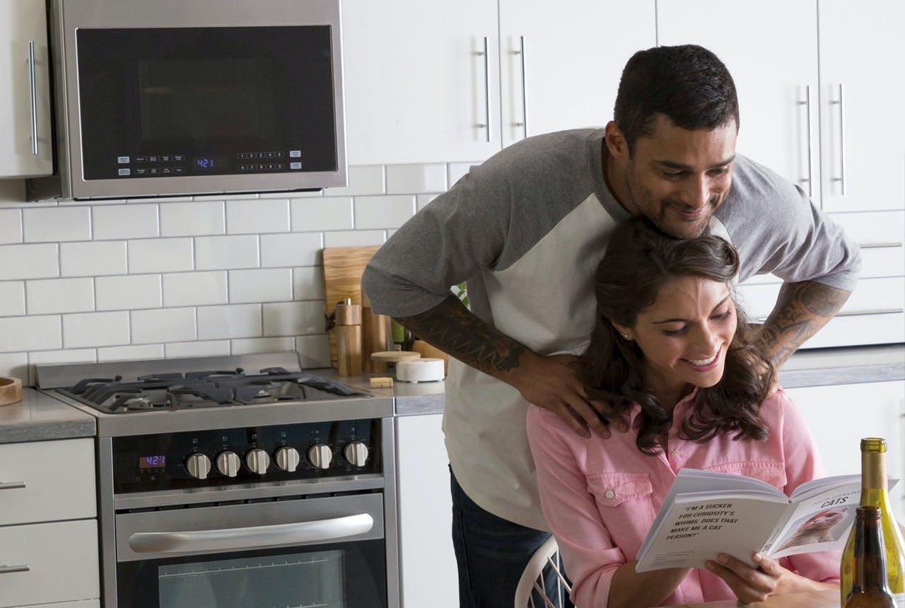 couple in their Haier kitchen