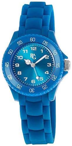 Cette montre B&G se compose d'un Boîtier Rond de 28 x 32 mm et d'un bracelet en Silicone Bleu