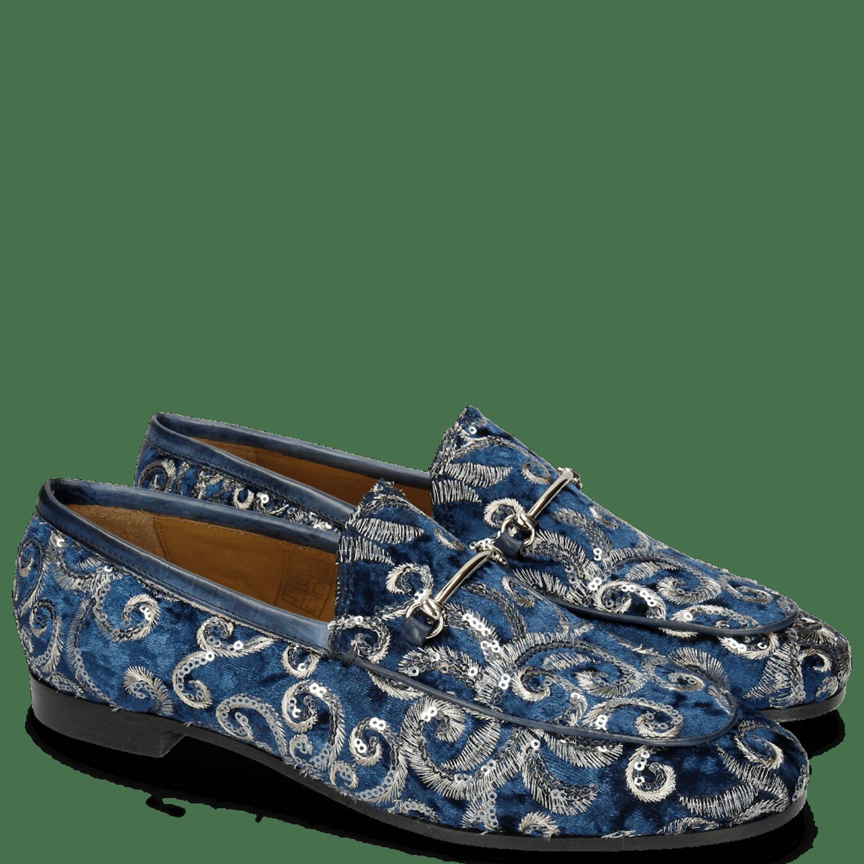 Scarlett 1 Textile Zardosi Blue