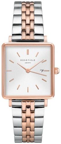 Cette montre ROSEFIELD se compose d'un boîtier Carré de 26x28mm et d'un bracelet en Acier Multicouleur