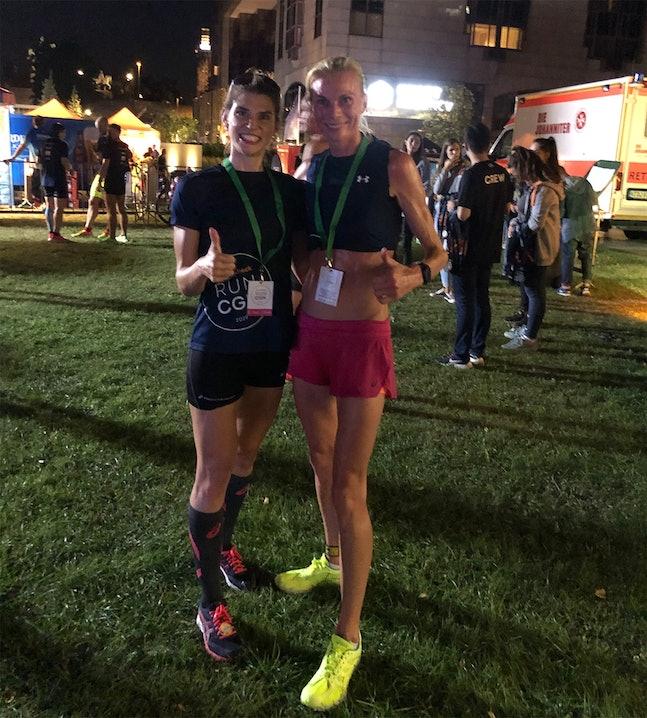Andrea Diethers im Ziel des SportScheck RUN Köln