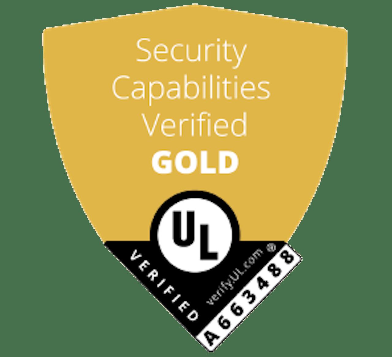 Security Capabilities Verified Gold UL logo