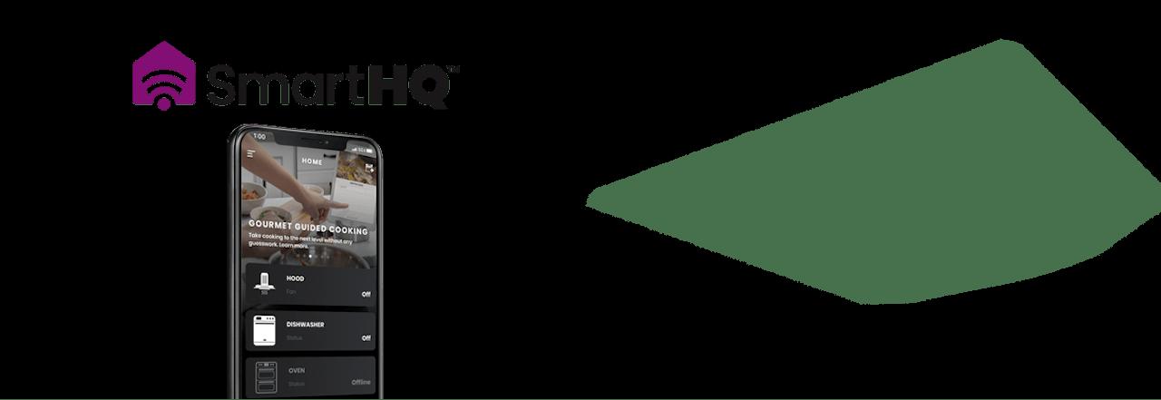 SmartHQ logo and app screen