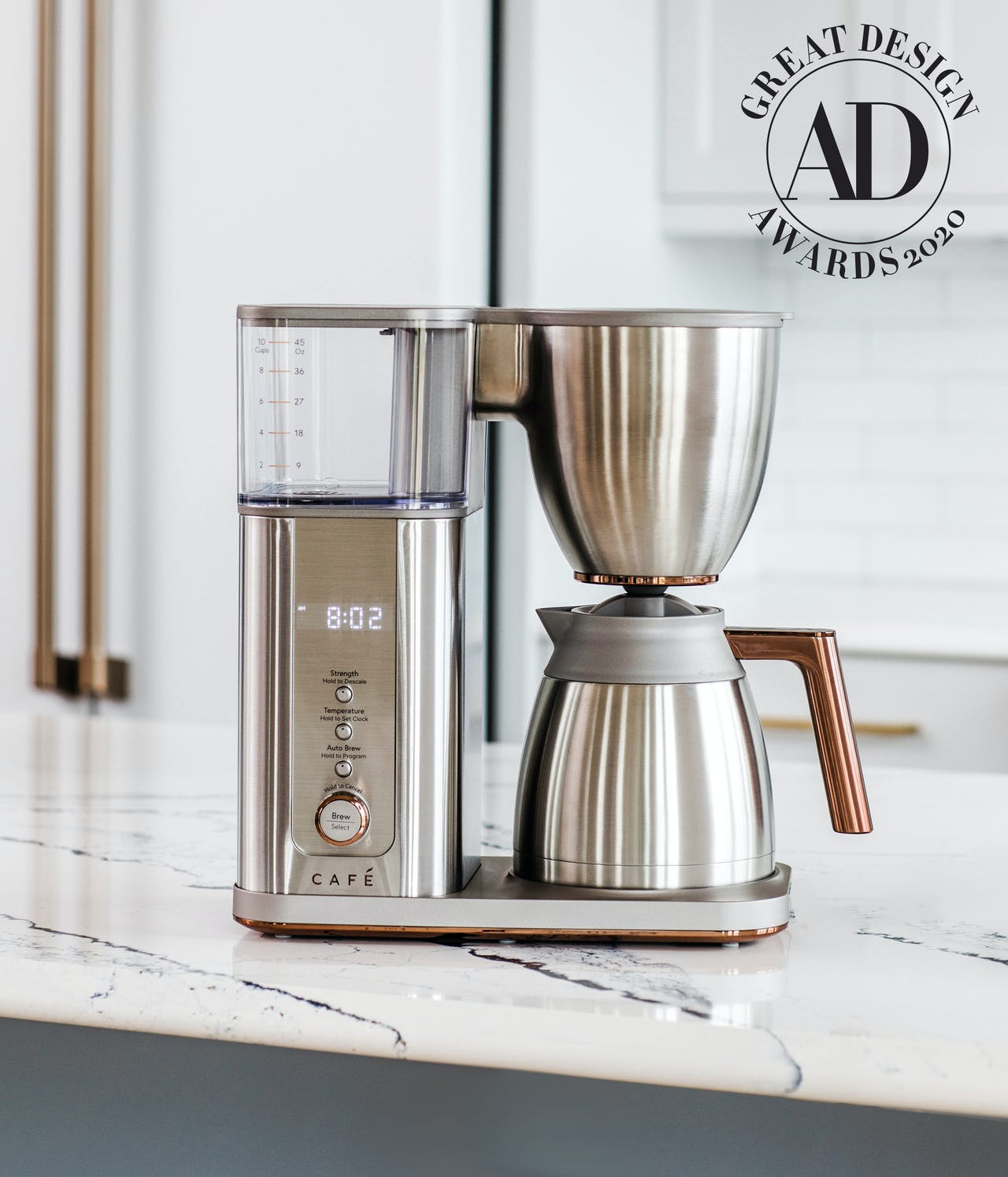 Stainless Coffee maker with Architectural Digest Great Design Award 2020
