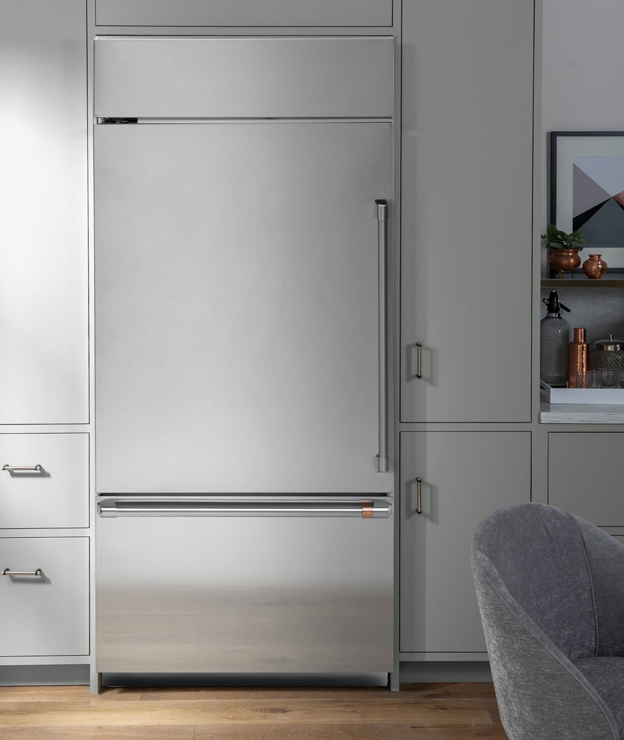 stainless steel built-in refrigerator