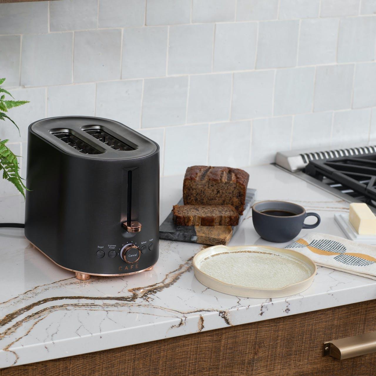 café toaster on cambria countertops