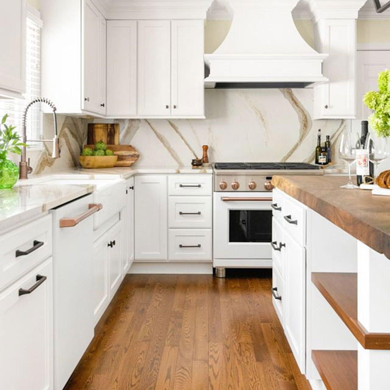 Matte white appliances