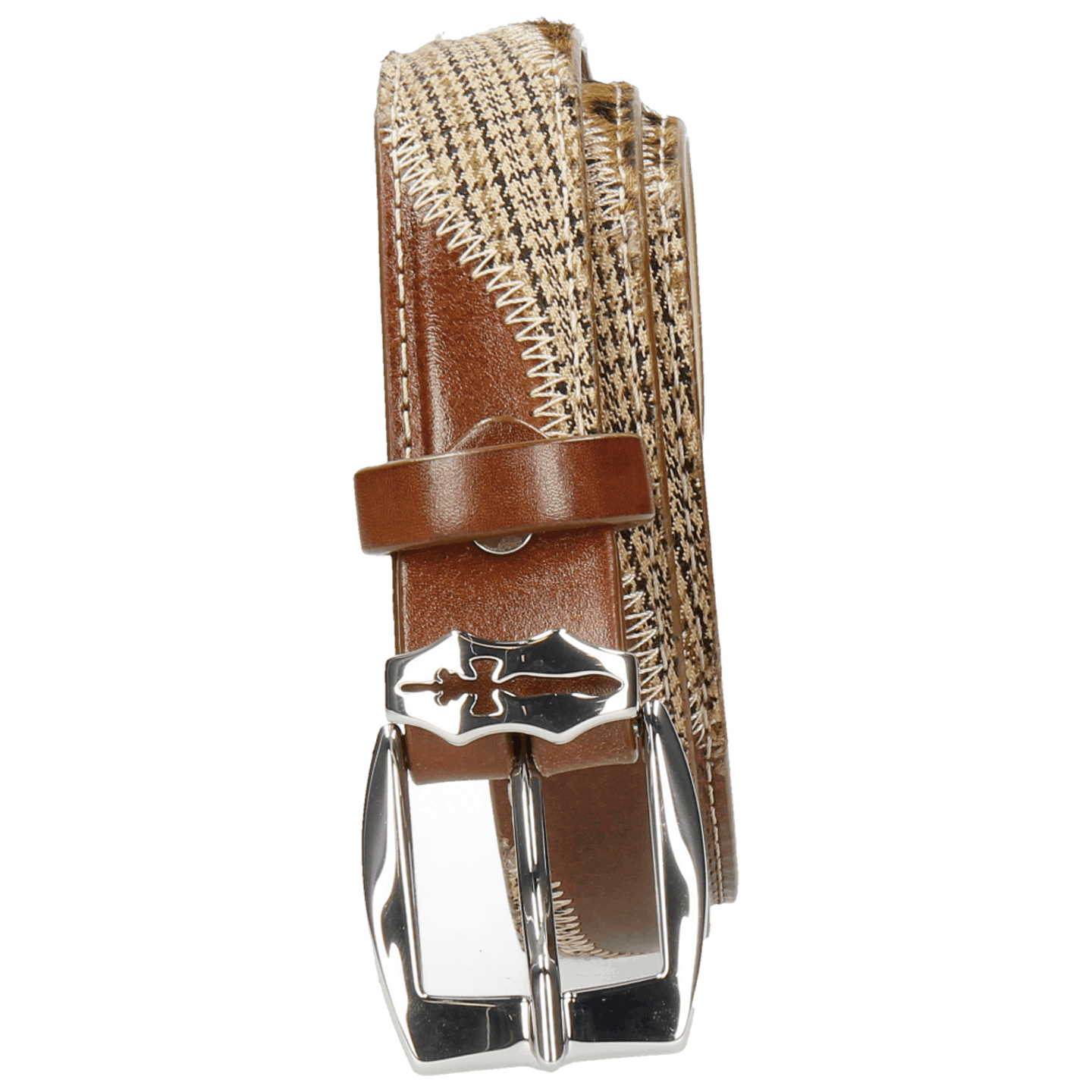 Linda 2 Mid Brown Hairon Leo Cappu Wood Textile English Sword Buckle