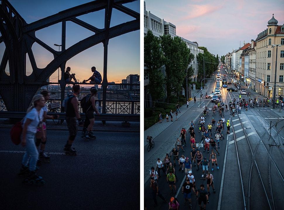 Impressionen von der K2 Blade Night in München