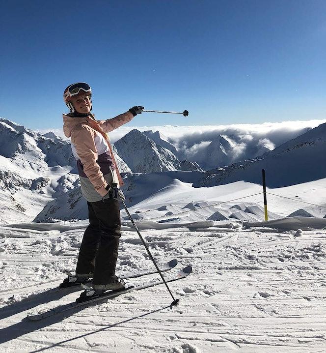 Ann-Kathrin Burmann beim Skifahren