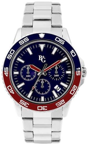 Cette montre B&G se compose d'un boîtier Rond de 43 mm et d'un bracelet en Acier Gris