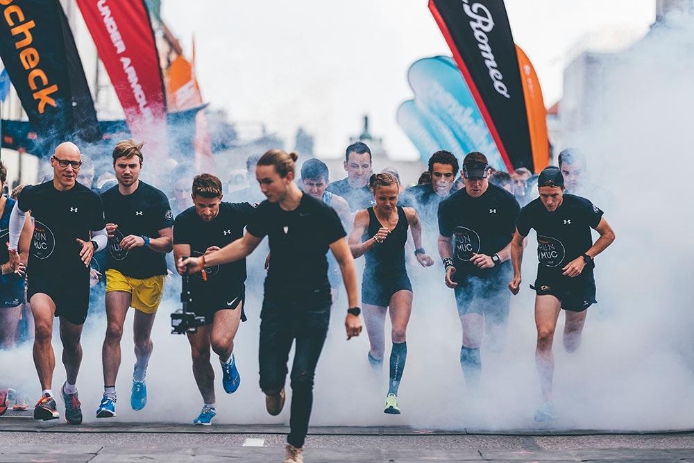 Start beim SportScheck RUN in München