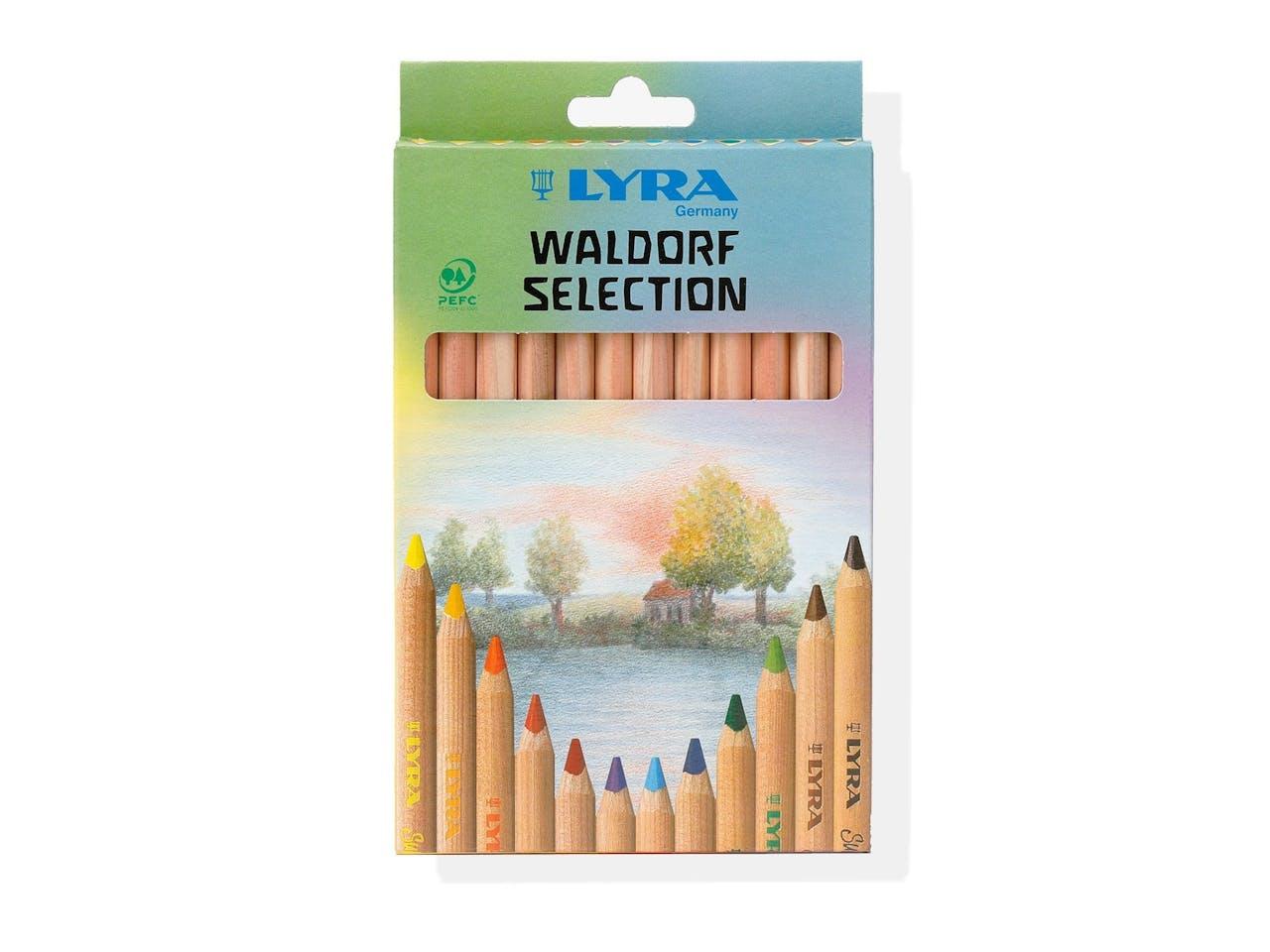 Lyra Buntstifte Waldorf Selection Super Ferby, 12er-Set im Kartonetui, natur