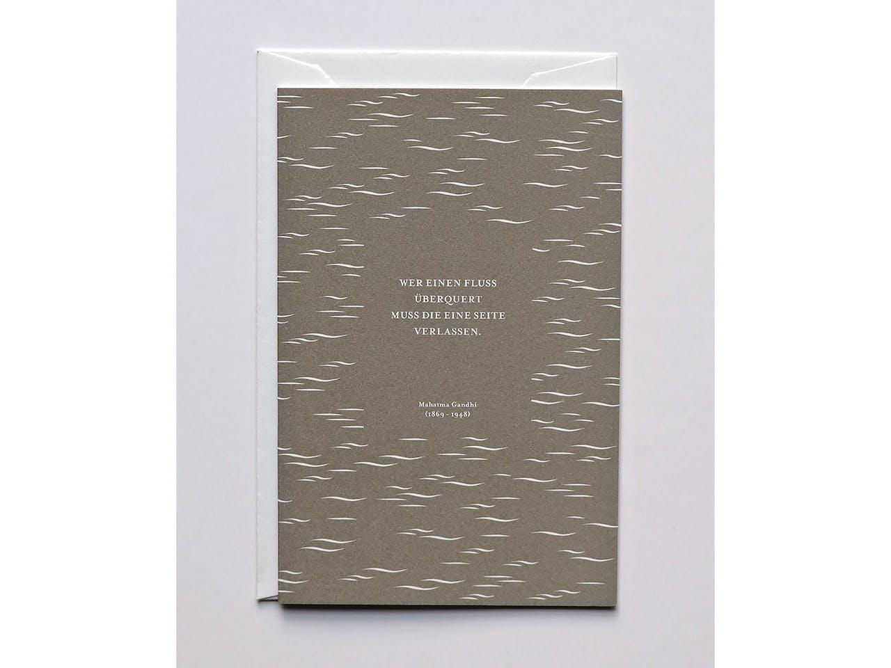 Haferkorn & Sauerbrey Grußkarte, DIN B6, Klappkarte mit Kuvert, Gandhi
