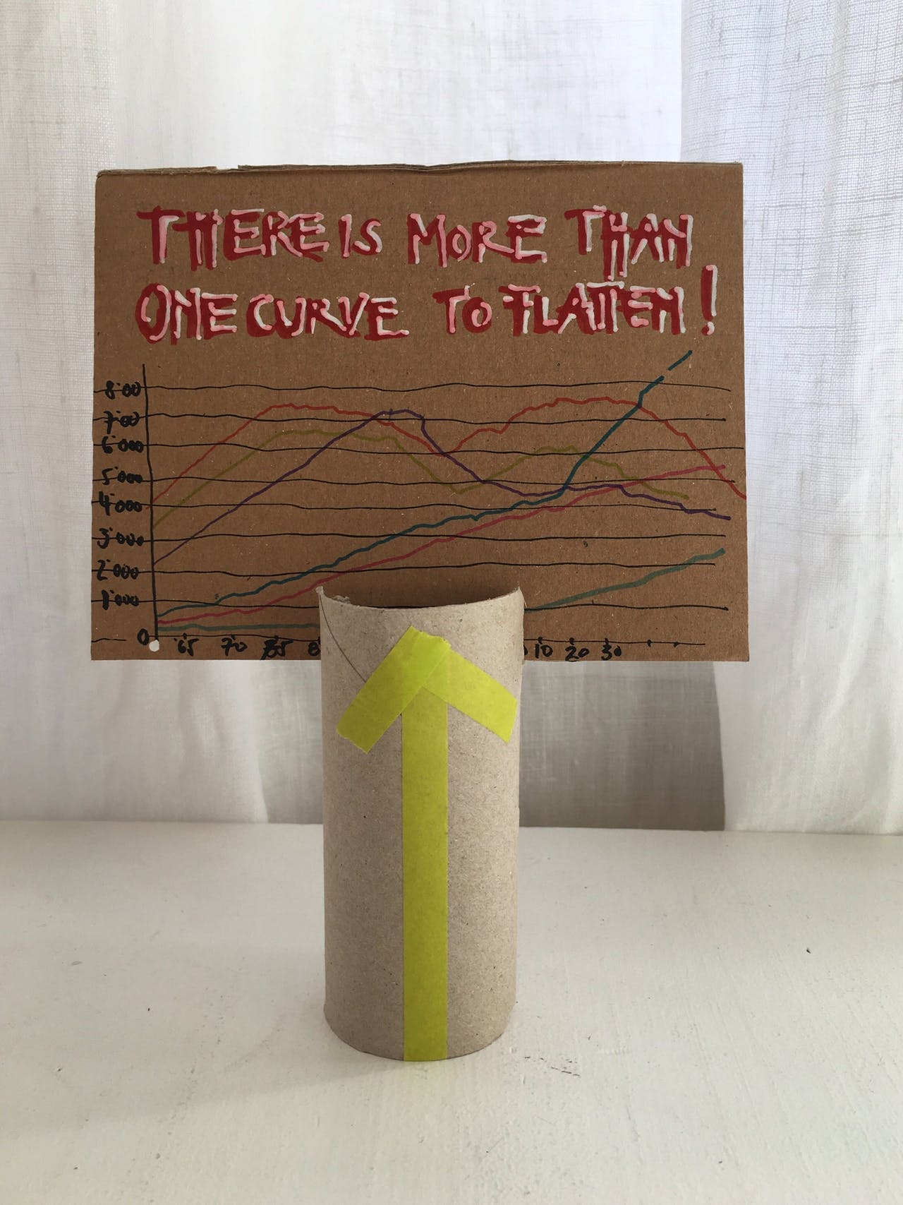 There is more than one curve to flatten! Modulor beim Netzstreik fürs Klima