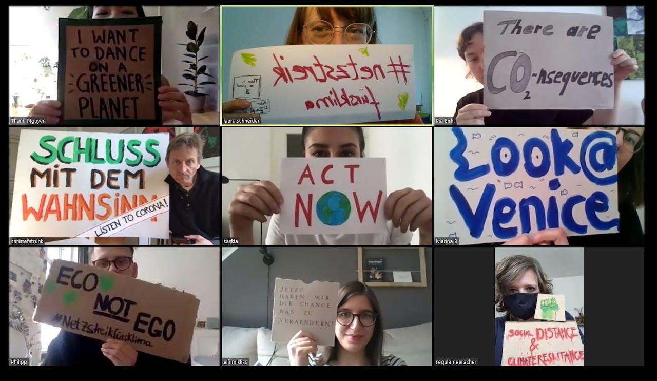 Wir sind dabei! Modulor nimmt am Netzstreik fürs Klima teil