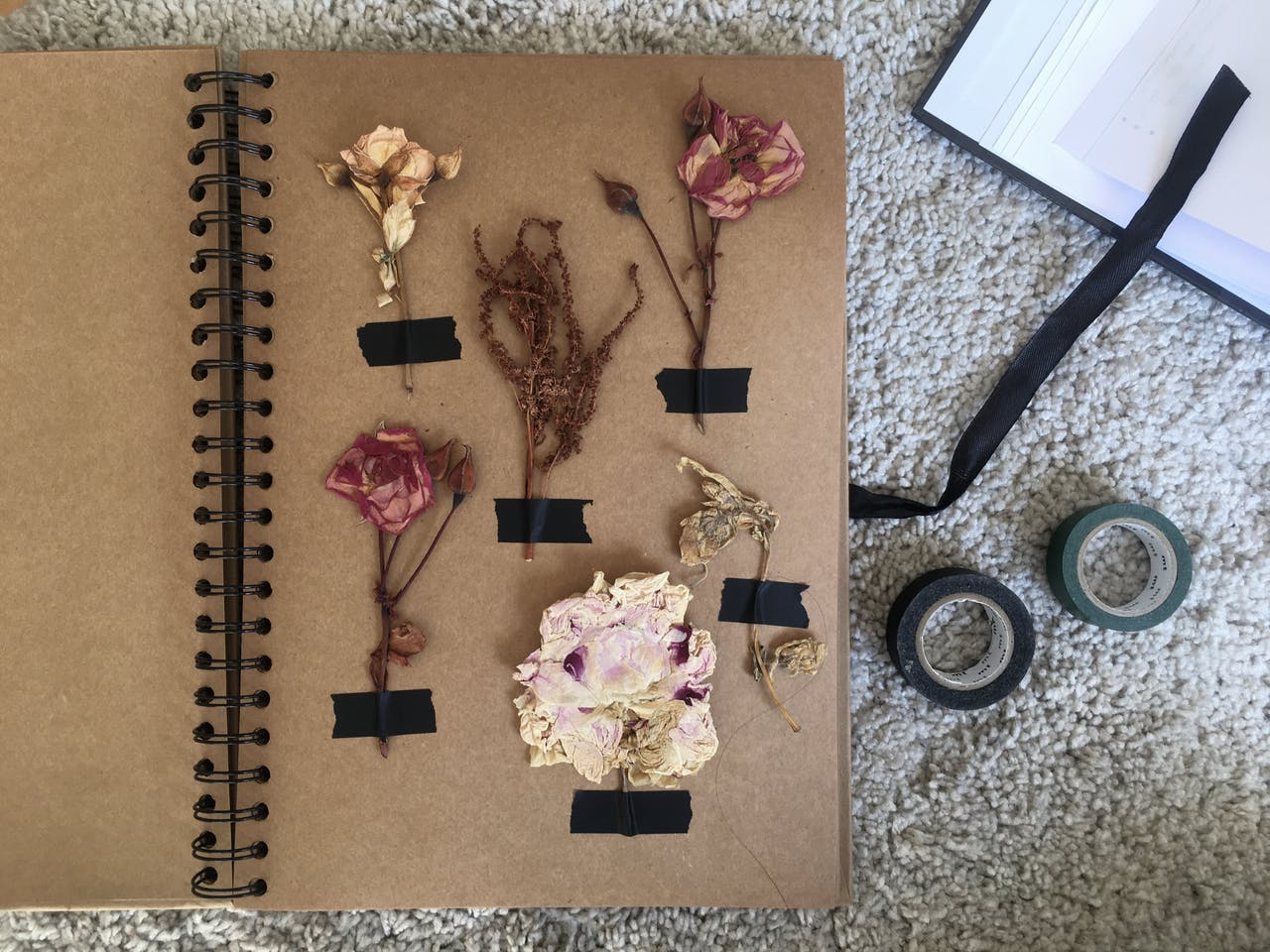 Ferien zuhause: Idee 1, Blüten und Blätter pressen