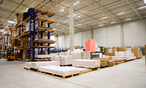Modulor Logistikumzug: Modulor Lager für Möbel in Schönefeld